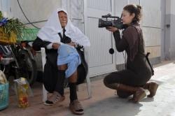 La periodista tunecina Khedir Mabrouka. / gorka lejarcegi