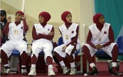 Juegos Islámicos que se celebraron en Doha el pasado mes de diciembre, donde las catarís compitieron con todo su cuerpo cubierto excepto el rostro.