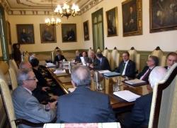 El presidente del CGPJ y los vocales de la Comisión Permanente, reunidos con la Sala de Gobierno del Tribunal Supremo