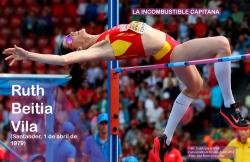 Ruth Beitia Vila es una atleta española, especialista en salto de altura. Foto del boletín del CSD