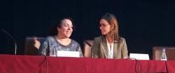 La consejera de Asuntos Sociales de Ceuta, Rabea Mohamed; y Carmen Fúnez.