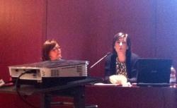 De izquierda a derecha, Lucía Gracia y Carmen Filiu.