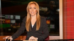 María Rodríguez, en los estudios del canal internacional en español de RT, en Moscú