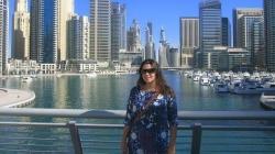 Rebeca González, en Dubai, donde trabaja para el Instituto Valenciano de Exportación