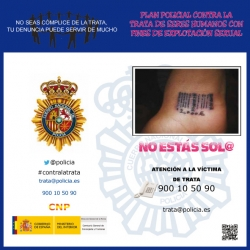 Campaña de la Policía Nacional contra la trata de seres humanos.